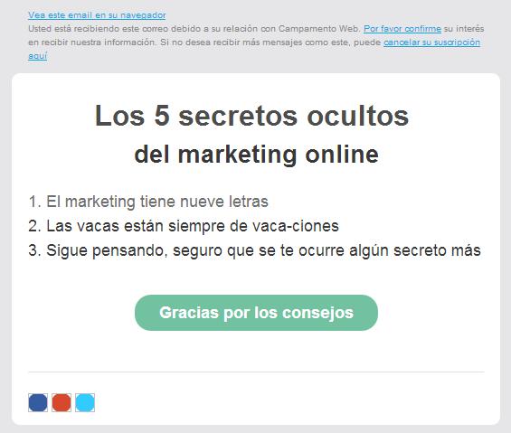 Prueba email marketing