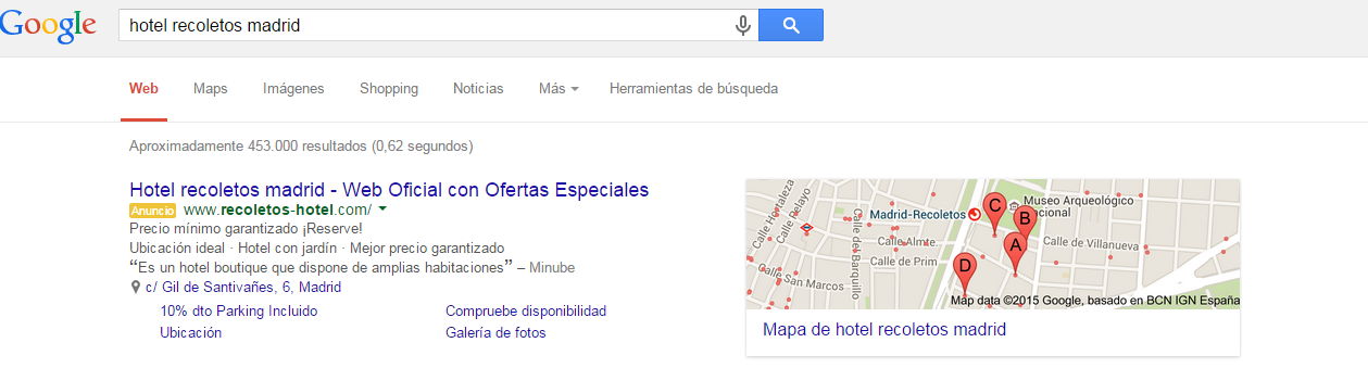 hotel recoletos madrid   Buscar con Google