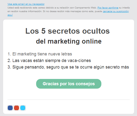 Prueba email marketing