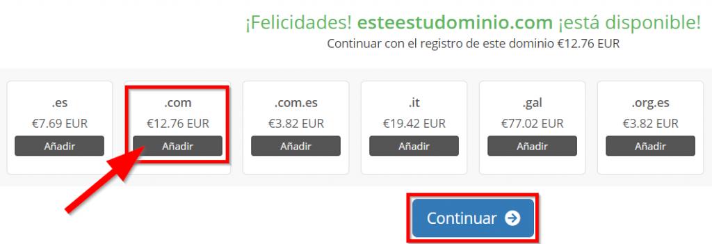 Registrar dominio disponible con Raiola Networks gratis