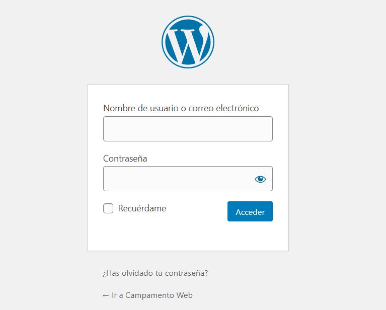 Cómo entrar a WordPress