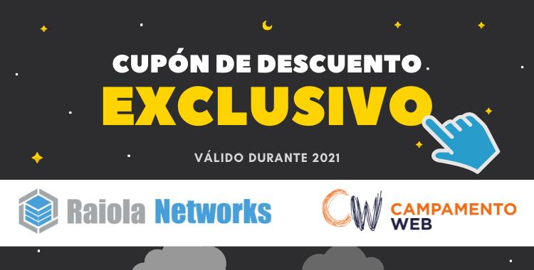 Cupón de descuento de Raiola Networks para hosting y dominios